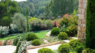 Un jardin m diterran en en terrasse gamm vert - Creer un jardin mediterraneen ...