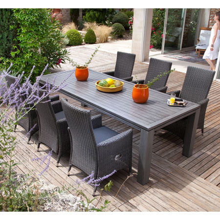 Beautiful Salon De Jardin Gris Anthracite Pvc Photos - House Design ...