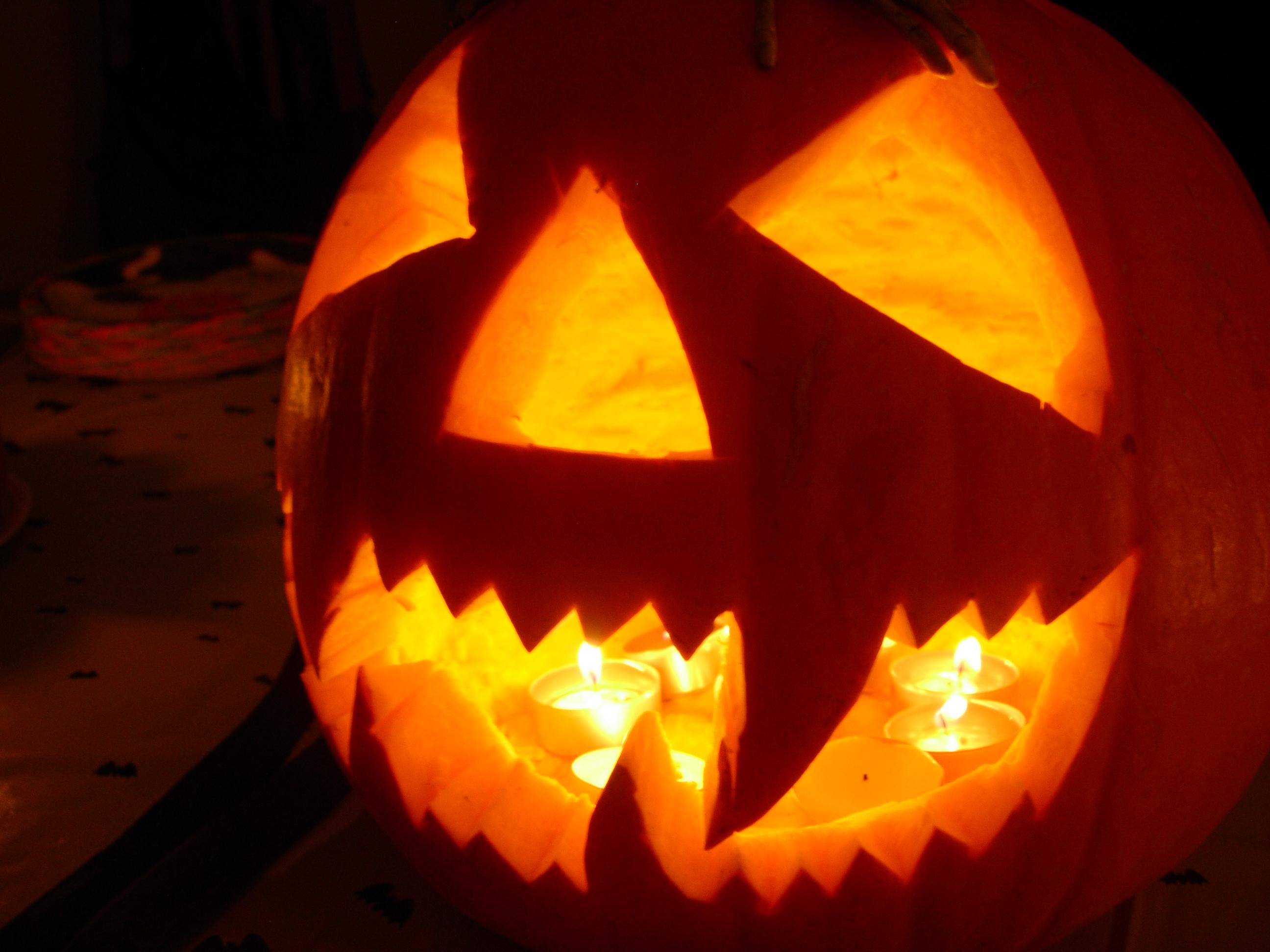 Bouche Citrouille Halloween.Tete De Citrouille Pour Halloween Gamm Vert