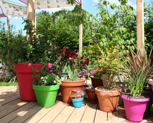 jardin pots terrasse