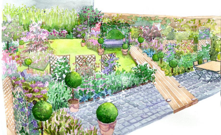 Id e am nagement jardin d co jardin gamm vert for Idee amenagement jardin rectangulaire