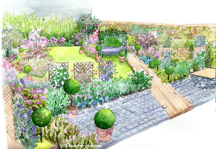 Le jardin clos le magazine gamm vert for Dessiner son jardin paysager
