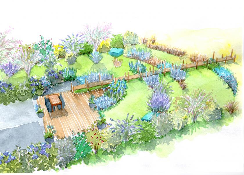le jardin de bord de mer gamm vert. Black Bedroom Furniture Sets. Home Design Ideas