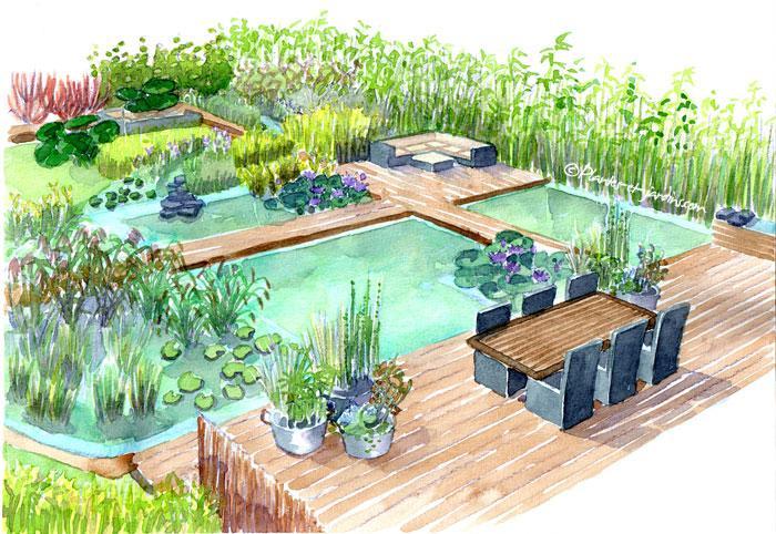 Le jardin aquatique gamm vert - Dessiner un jardin en 3d ...