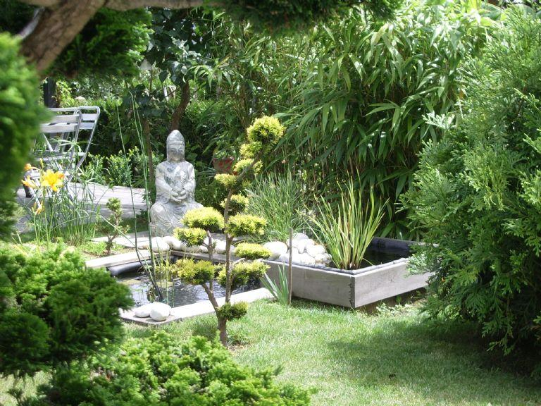Jardin enclos gamm vert - Jardin zen japonais ...