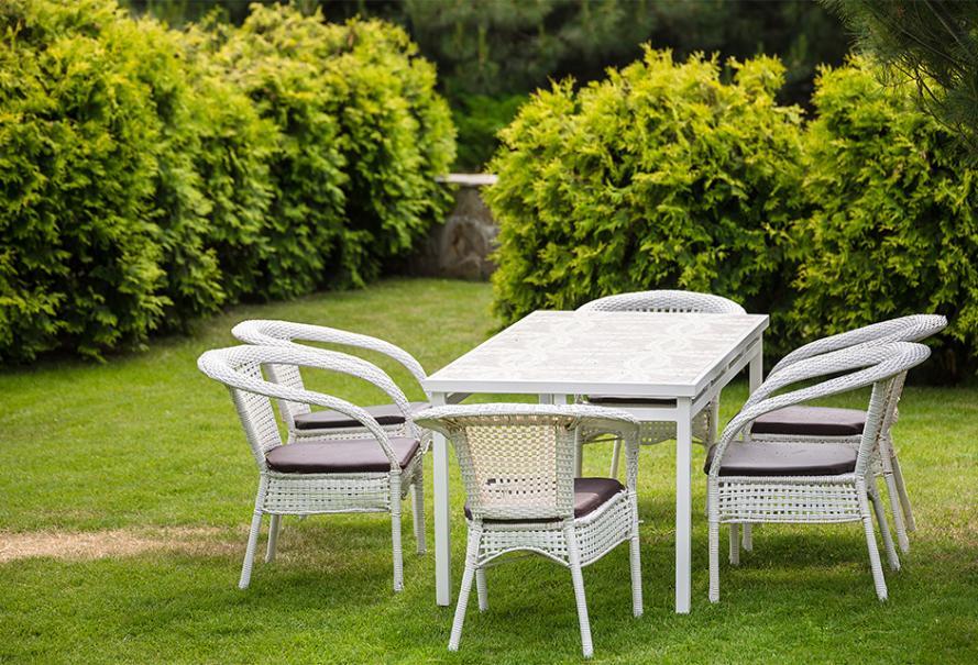 Le salon de jardin en résine blanc | Gamm vert