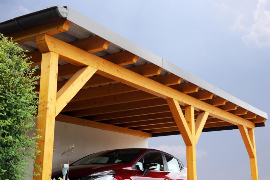 Comment Construire Un Carport Adosse A Un Mur Gamm Vert