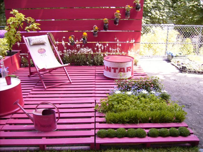 id e de r cup num ro 6 des palettes pour une terrasse en bois gamm vert. Black Bedroom Furniture Sets. Home Design Ideas