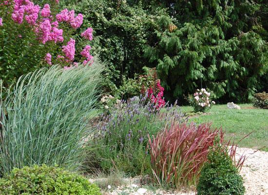 Un coin de jardin pur et moderne sc nes de jardins for Plantes pour jardin moderne