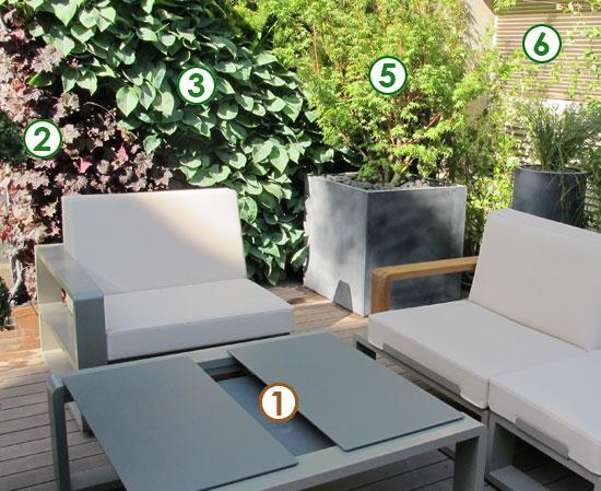 une terrasse aux murs v g talis s sc nes de jardins. Black Bedroom Furniture Sets. Home Design Ideas